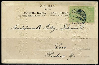 Serbia Belgrade 1905 Flowers Picture  Postcard Notation Last Day On Reverse