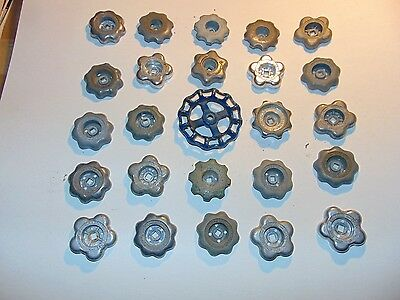 Vintage Lot- 25 ANTIQUE VALVE HANDLES INDUSTRIAL WATER FAUCET GARDEN KNOB -6
