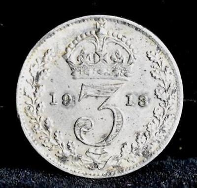 1913 Great Britain Threepence Silver - XF