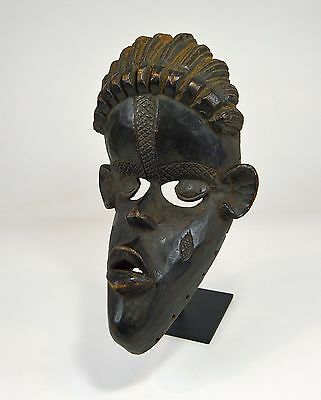 Vintage Dan Bassa African mask, Highly stylized example, African Art