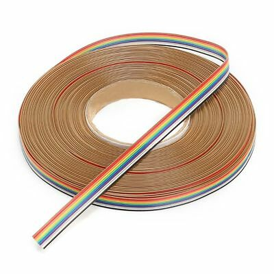 10Way - 50Way Dupont Wire Flat Flexible Rainbow Ribbon PCB Cable Pitch 1.27MM IL