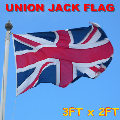 Union Jack Flag 3FT x 2FT 90.5cm x 60.5cm Great Britain United Kingdom UK Banner