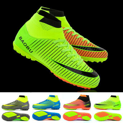 Men Cleats Outdoor High Ankle Football Boots Shoes Soccer Cleats Anti Slip