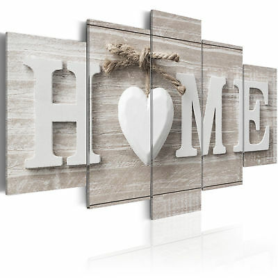 5 Panels Love HOME Wall Art Print Pictures Canvas Wall Art Prints Unframed