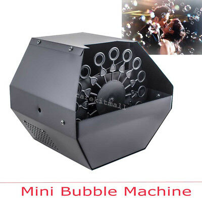 Professional Mini Automatic Bubble Machine Effects Maker Kid Party Stage Wedding