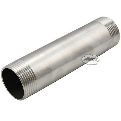 """3/4"""" Male x 3/4"""" Male 304 Stainless Steel threaded Pipe Fitting SS304 L 150MM"""