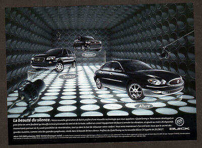 2005 BUICK Terraza, Rainier & Allure Original Print AD - 3 black cars photo