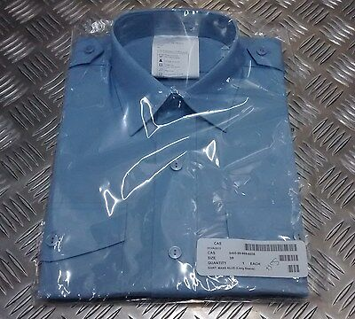 Genuine British Royal Air Force RAF Long Sleeve Blue Uniform Shirt - NEW