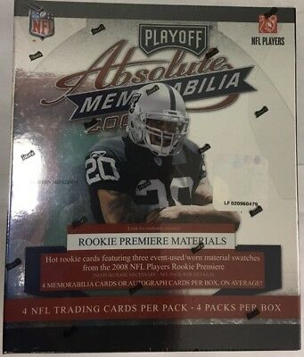 3f95aa2f3 2003 PLAYOFF ABSOLUTE Memorabilia Factory Sealed Football Hobby Box ...