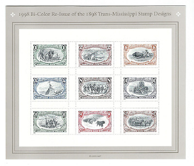 Scott #3209...1 Cent to $2.00...Trans-Mississippi.....Sheet of 9 Stamps