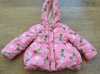 M+Co  Girls Autumn Winter Hooded  Coat 18-24Mths