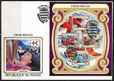 Chad  2017  Red Cross Sheet First Day Cover