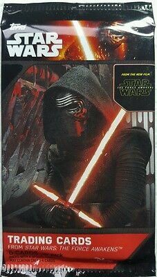 Star Wars FORCE AWAKENS  Series 1 Trading Card PACKS X 9  TOPPS  2015 Retail