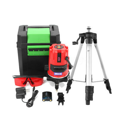 20 Times Automatic Self Leveling 5 Line 6 Point Rotary Laser Level Measure Set