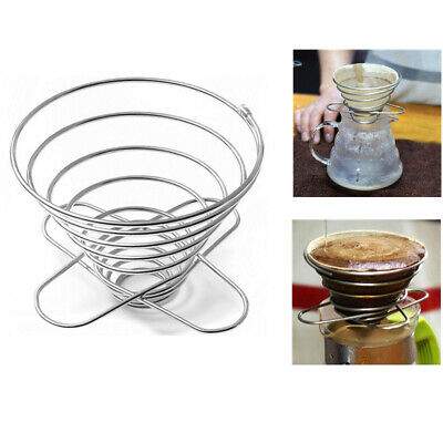 Home Stainless Steel Pour Over Cone Dripper Coffee Filter Tea Strainer Folding