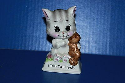Cute Vintage Russ Berrie Cat Kitten I Think You're Special Figurine 1979