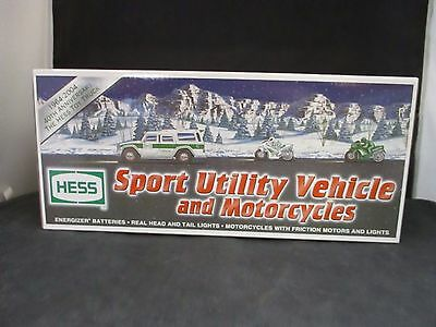 2004 Hess Toy Truck Sport Utility and Motorcycles 40th Anniversary NIB Lot A