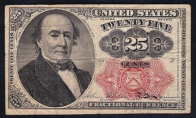 US 25c Fractional Currency FR 1308 Position 22-F VF
