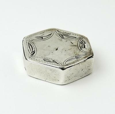 ANTIQUE STERLING SILVER PATCH BOX Birmingham 1801