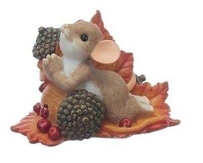 Charming Tails Mouse Praying on Acorn and Leaf Harvest Fall Figurine 130457 New