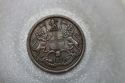 India 1/4 Anna 1835 Unusual Nice Details A53 #z49
