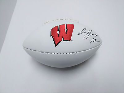 ALEX HORNIBROOK Wisconsin Badgers SIGNED Logo Football