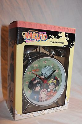 New In Box  Naruto Silver Twinbell Clock 2002