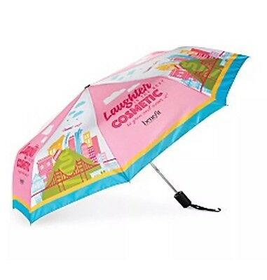 Benefit Cosmetics Umbrella Laughter is the best rainbow colorful foldable travel