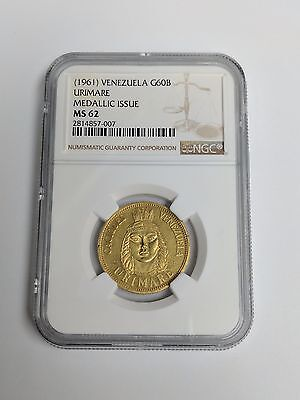 1961 Venezuela Gold 60 Bolivares URIMARE Gold Coin NGC MS 62 - MEDALLIC ISSUE
