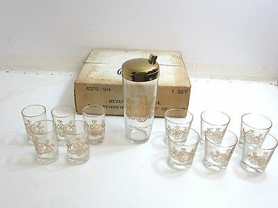 Vintage Pennsylvania Government State Seal Barware Glassware Shaker Set