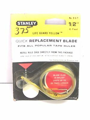 Nos Vintage Stanley Tape Measure Replacement 1 2 X 6 Blade B6y