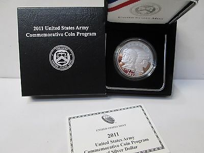 2011 United States Army Proof Silver Dollar Commemorative
