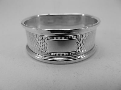 Excellent HM Silver Napkin Ring (382a) - Birm 1975 Broadway Not Engraved sterlng
