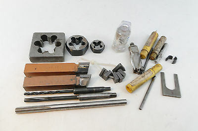 Lot Of Machinist Tools Taps Drill Bits Dies Lathe Tooling