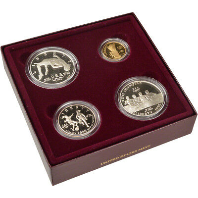 1996 US Olympic Games 4-Coin Commemorative Proof Set - Cauldron