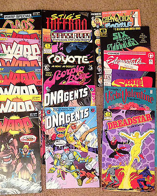Mixed lot of 24 indie comics 1980's - all genres