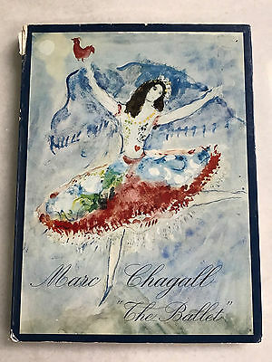 60s MARC CHAGALL Book THE BALLET complete w LITHOGRAPH 1969 Printed in France