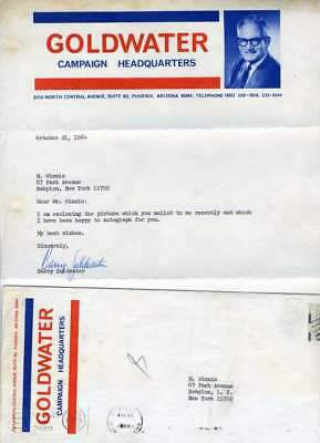 Barry Goldwater Jsa Hand Signed 1964 Presidential Letter Authentic Autograph