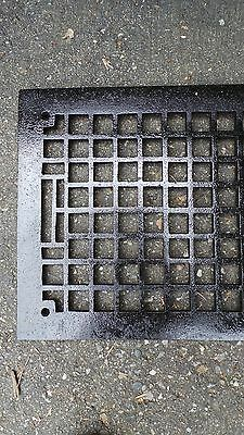 "Vintage VICTORIAN Cast Iron Floor Grille Heat Grate Register 26"" long x 12"" wide"