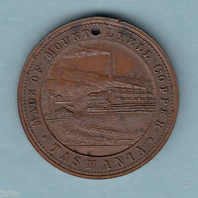 Australia. 1897 Mt Lyell Tas.  Copper, 31mm Medallion.. Queen Vic Jubilee.. EF