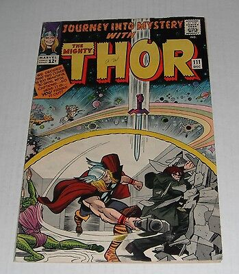 Journey into Mystery # 111...VG-FINE....5.0 grade--ra....1964 Thor  comicbook..