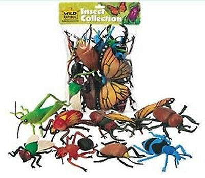 *NEW* Toy Insect Animals Model Figurines - 10 Piece Polybag 64092 Collection