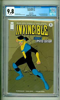 Invincible #1 Cgc 9.8 Larry's Limited Edition Variant 2003