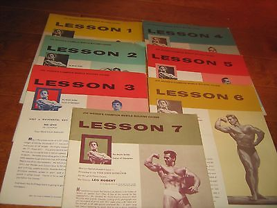 7 Lot JOE WEIDER Lessons MR AMERICA MUSCLE BUILDING COURSE bodybuilding booklets