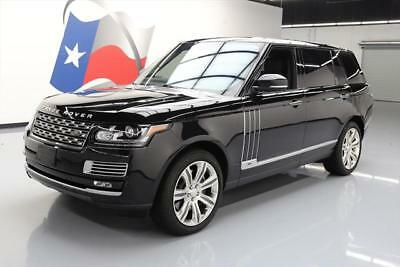 2015 Land Rover Range Rover Autobiography Sport Utility 4-Door 2015 LAND ROVER RANGE ROVER AUTOBIOGRAPHY BLACK LWB 4X4 #205360 Texas Direct