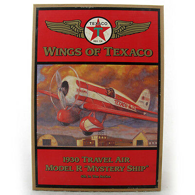 Wings of Texaco 1930 Travel Air Model R Mystery Ship Plane Coin Bank 1997