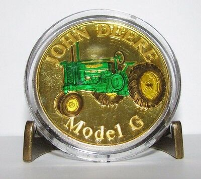 John Deere G  Tractor  .999 Fine Silver Round 1 Troy Oz Collector Coin  jd  gold
