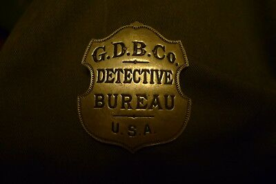 Rare 1890's Grannan Detective Bureau Cincinnati Ohio USA Bureau Badge Pin No Res