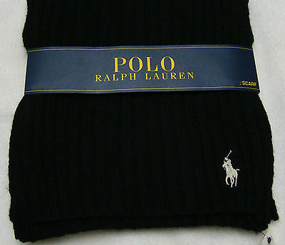 Polo Ralph Lauren Black with White Pony Men's Scarf Only