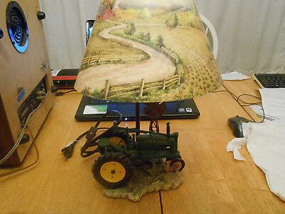 John Deere Tractor  Desk Lamp & Shade! WORKING CONDITION WITH TOGGLE SWITCH